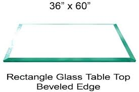 36 glass table top inch glass table top inch rectangle glass table top 1 4 inch