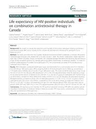 Life Expectancy Of Hiv Positive Individuals On Combination