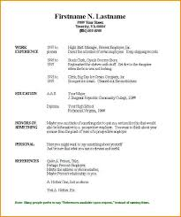 A Simple Resume Example Gallery Of Simple Free Resume Template ...