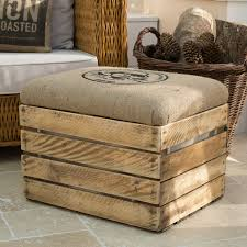 Cheap Footstools With Storage Make Wooden Seating With Storage