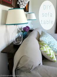 diy sofa table. DIY Sofa Table Diy