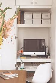 home office in a cupboard. Make Sure You Space These With Binders, Books And Other Desk Storage In Mind. Consider The Weight That Will Be Needed To Support This Also Home Office A Cupboard L