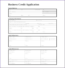 application for credit account template vendor credit application template kazakia info