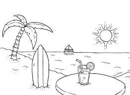 indian summer colouring book pages for preschool coloring beach pa
