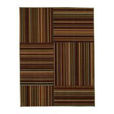 ottomanson studio collection yellow stripes design 3 3 x5 0 area rug ottomanson