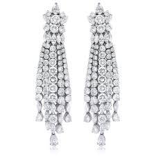 ct diamond 18k white gold chandelier earrings for stylish residence chandelier earrings gold plan