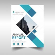 blue creative annual report book cover template free vector free report cover templates