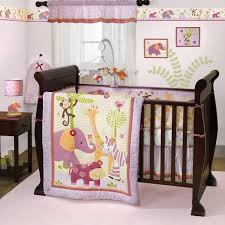 Lavender and Pink Jungle Safari Baby Girl Nursery Zebra 3pc Zoo