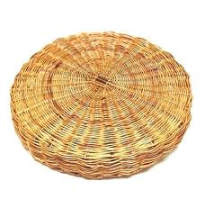round rattan tray vintage large woven wicker with handles coffee basket whole canada ro
