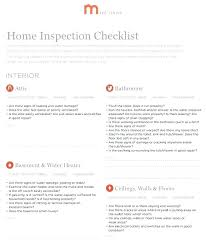 checklist for house inspection house inspection checklist co home list prior to listing check