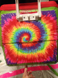 Tie dye painting on a cooler originally by Rachael Guenter