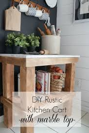 kitchen cart diy rustic kitchen cart with marble