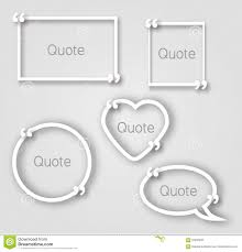 Paper Picture Frame Templates White Quote Bubble Paper Frames In Realistic Style Different Shapes