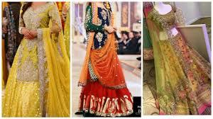 Kashif Designer Dresses 2018 Mehndi Bridal Dress Makeup Jewelry Idea Bridal Makeup Idea