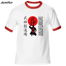 Us 13 29 30 Off Fashion Men Raglan Sleeve Cotton T Shirt New Bujinkan Dojo Budo Taijutsu Ninjutsu Japanese Kanji 9 School T Shirt Tees Tops In