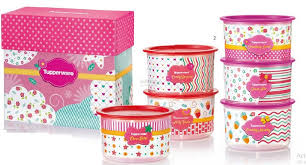 tupperware blushing pink one touch gift set 6