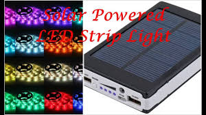 solar battery powered 5050 rgb led strip light kit waterproof usb power bank you
