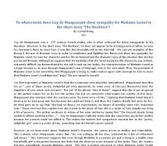 essay writing tips to the necklace by guy de maupassant essay the necklace by guy de maupassant essay