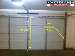 4 garage door vertical track decorating