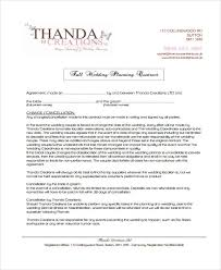 wedding planning contract templates 5 planner contract templates free sample example format