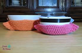 Bowl Cozy Pattern Interesting Ravelry Crochet Bowl Cozy Pattern By Jessie Rayot