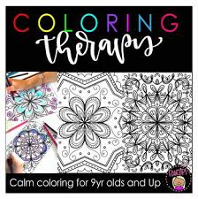 Choose your favorite coloring page and color it in bright colors. Color Therapy Pages Worksheets Teaching Resources Tpt