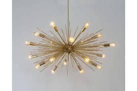 gold sputnik chandelier. Mid Century Modern Handcrafted Gold Brass Spurchin Chandelier 18 Bulb Sputnik Ceiling Lamp Light 32 \ E