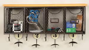 4 Basket Organizer Wall Mounted Coat Rack