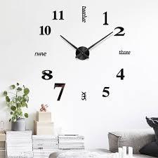 48 wall clock mirror wall stickers