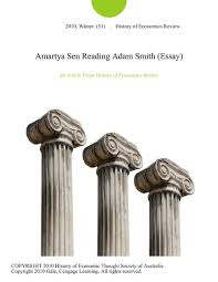 amartya sen reading adam smith essay by history of economics  amartya sen reading adam smith essay by history of economics review on ibooks