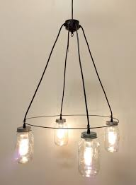 64 most exceptional vintage mason jar chandelier light fixture by lamp goods the lighting creative ruin decoration diy led kit rose pattern glass bulbs