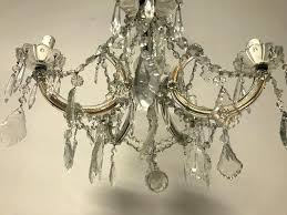 maria theresa chandelier vintage exclusive original bohemian crystal structure of bronze