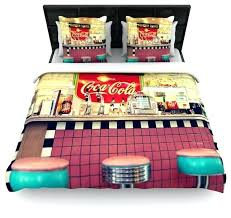 Retro Duvet Covers Cook Retro Diner Coca Cola Cotton Duvet Cover ... & retro duvet covers cook retro diner coca cola cotton duvet cover queen retro  duvet covers nz Adamdwight.com