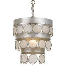 crystorama lighting group coco antique silver one light mini chandelier