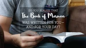 Book Of Mormon Quotes Fascinating Daily Quote This Book Was Written For You Mormon Channel