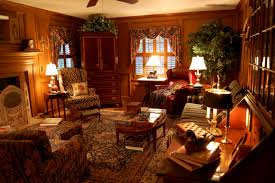 Hunting Decor For Living Room Interesting Country Living Room Decorated With Wooden Wall And