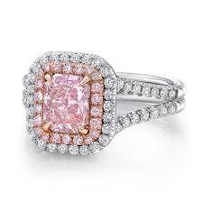 lvs1000 uneek radiant pink diamond engagement ring