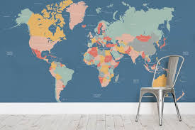 world map on wall simple decoration navigator kids world map wall mural milexa