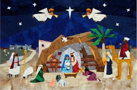 Paper Panache Paper-Pieced Advent Nativity PDF Quilt Pattern & Sample made by Jeanne Orth, Thousand Oaks, CA Adamdwight.com