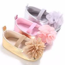 Puseky Newborn Baby Girl Shoes Spring Summer PU Soft Soled Flower ...