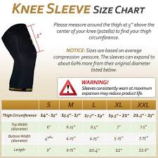 Knee Sleeve Size Chart Copper Compression Knee Sleeve