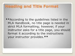 Ppt Mla Tips Powerpoint Presentation Id2086913
