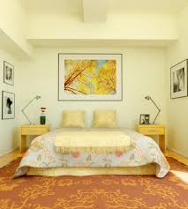 charming picture of yellow bedroom decoration using yellow flower girl bed sheet including light yellow bed valance and light yellow small bedroom paint