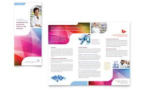 Microsoft Office Brochure Template Free Download Pharmacy School Tri Fold Brochure Template Word Publisher