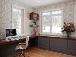 home office wallpaper. Wondrous Wallpaper Home Office Design Ideas Expressing Enticing Wooden Table Also Impressive Swivel Chair Plus Incredible Drawers Decor