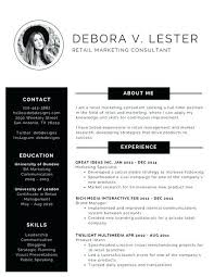 Best Free Resume Templates Black And White Modern Resume Government