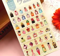 How To Decorate Perfume Bottles 100pclot Kawaii perfume bottle design paper stickers Decoration 75