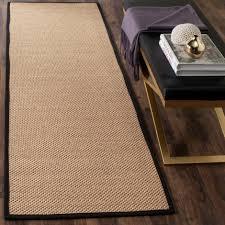 daring 8 ft runner rug safavieh natural fiber chocolate 2 x nf525d 28