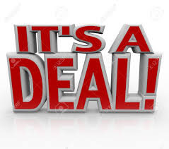 The Words It's A Deal Stock Photo, Picture And Royalty Free Image ...