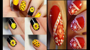 Easy Nails Art Design | Simple Flower Nail Art for Beginners - YouTube